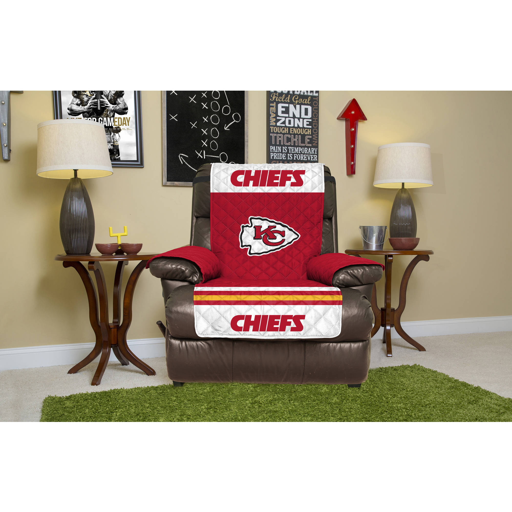NFL Licensed Furniture Protector, Recliner, Kansas City Chiefs