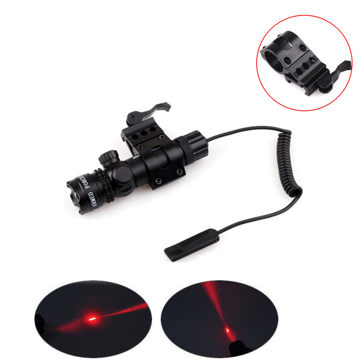 Tactical Red Dot Laser Mounting Sight Gun Scope with 20mm Weaver Picatinny Rail + Pressure Switch + Mount