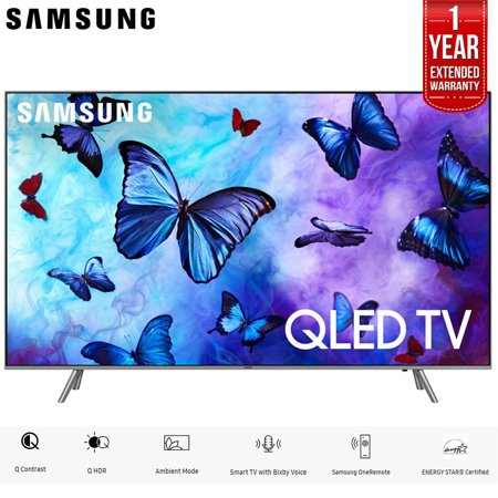 Samsung QN65Q6FNA 65u0022 Q6FN Smart 4K Ultra HD QLED TV (2018) (QN65Q6FNAFXZA) with 1 Year Extended Warranty QN65Q6F QN65Q6 65Q6F 65Q6