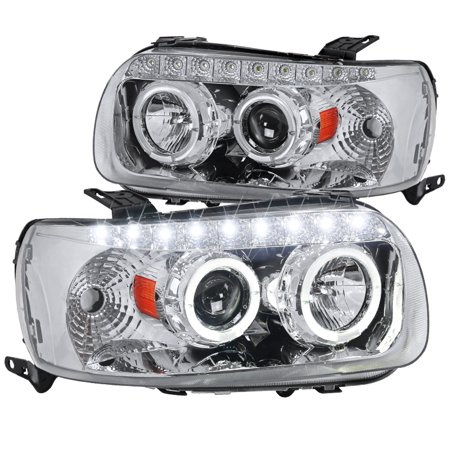 Spec-D Tuning 2002-2007 Escape Dual Halo Projector Smd Led Headlights Lamps Ford 2005 2006 2007 (Left + Right)