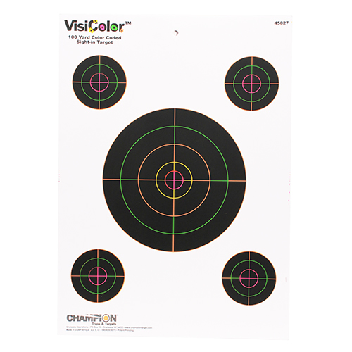 "Champion Visicolor Targets 45827 Visicolor, 8"" Sightin"