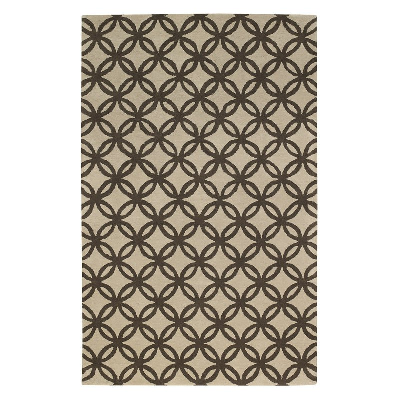 Capel Rugs Derry Coffee Optic Trellis Rug