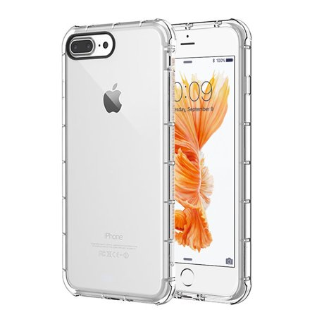 Rubber Transparent Skin (Insten Duraproof Transparent Anti-Shock TPU Rubber Skin Gel Case For Apple iPhone 8 Plus / iPhone 7 Plus - Clear)