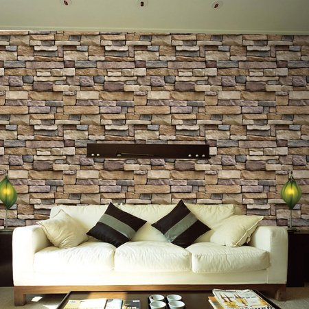 PVC Schist Bedroom Dining Room Living Room Self Adhesive Wall Sticker Decoration Brick (Best Wallpaper For Dining Room)