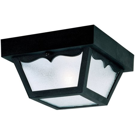 Westinghouse 6682200 Black Square One-Light Ceiling Porch Light