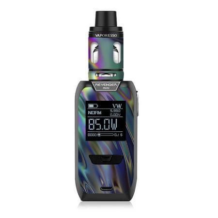 Skin Decal for Vaporesso Revenger MINI Vape / Oil Slick Opal Colorful