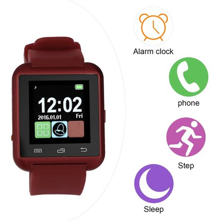 U8 Steel Silicon Sports Bluetooth V3.0 Smart Wrist Watch for Android for ISO