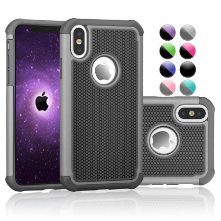 iPhone X Case, iPhone X Edition Case, Njjex iPhone 10 Case Cover Non-Slip Shock-Absorption Bumper and Anti-Scratch Slim Case for 5.8 inch Apple A1901, A1865 -Gray