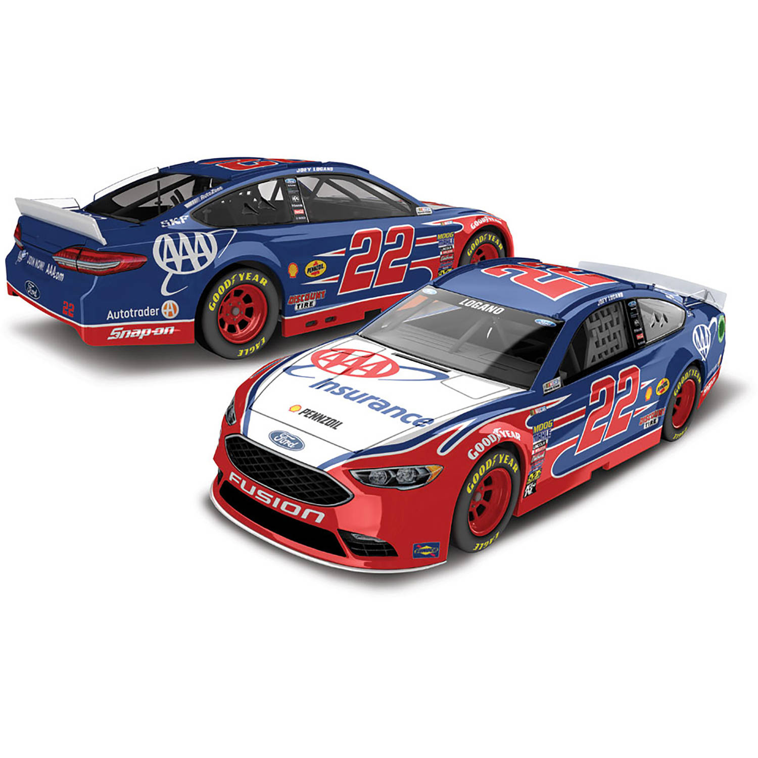 Lionel Racing Joey Logano #22 AAA Insurance 2017 Ford Fusion 1:64th Scale Hard-Top Official Diecast of the NASCAR Cup Series