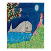 DiaNoche Designs Whale Mermaid by Sascalia Painting Print Plaque