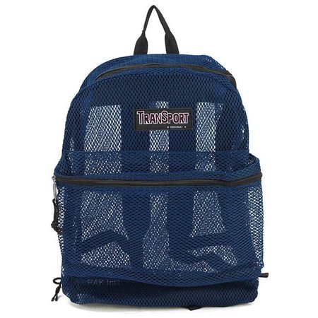 Travel Sport Transparent See Through Mesh Backpack/ School Bag ()