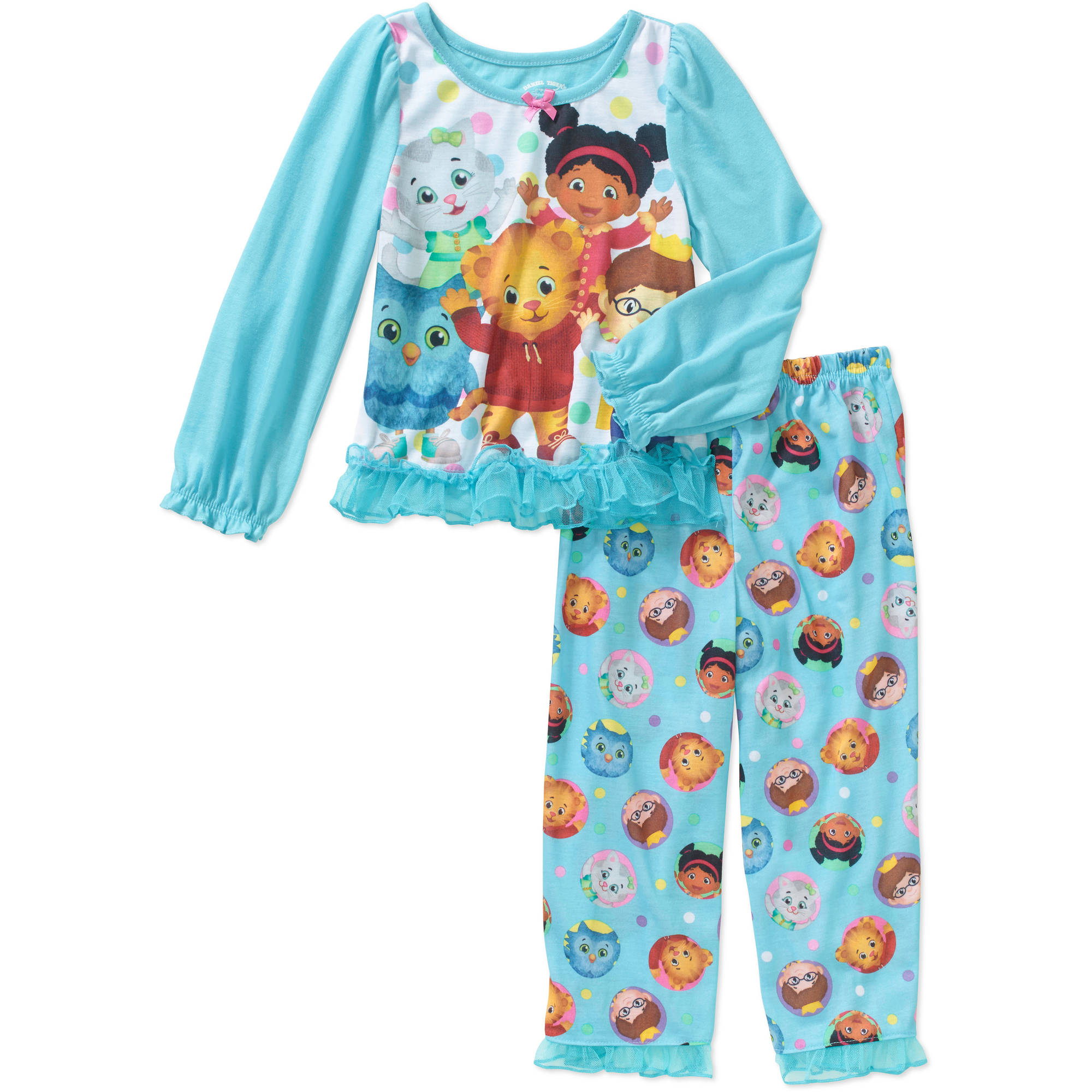 Daniel Tiger Toddler Girls' Pajamas 2-Piece Set