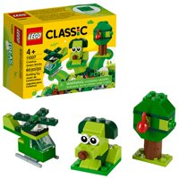 LEGO Classic Creative Green Bricks 11007 Building Kit to Inspire Imaginative Play (60 Pieces)
