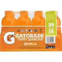 (12 Count) Gatorade Thirst Quencher Sports Drink, Orange, 20 fl oz