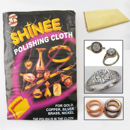Cleaning Polished Nickel (1 Shinee Jewelry Polishing Cloth Clean Silver Gold Cleanning Cooper Brass Nickel)