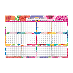 "Blue Sky™ Dry-Erase 18-Month Yearly Wall Calendar, 24"" x 36"", Mahalo, July 2018 to December 2019"