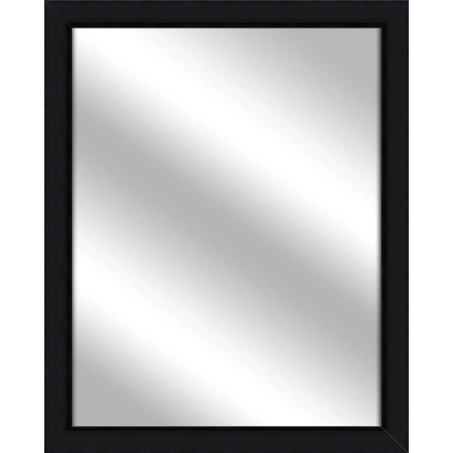Vanity Mirror, Wood Grain Black, 24.75x30.75 by PTM Images