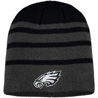 Men's Black Philadelphia Eagles Black Wave Knit Beanie - OSFA
