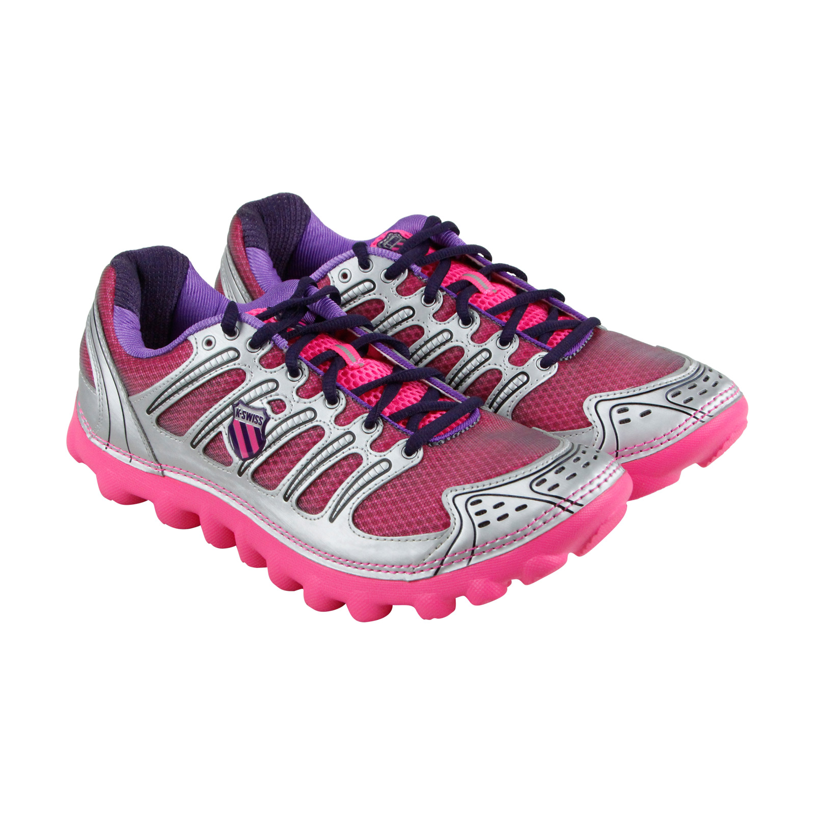 26c730a3fa7f K-Swiss - K-Swiss Vertical Tubes Cali Womens Pink Mesh Athletic Lace Up  Training Shoes - Walmart.com