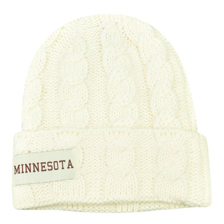 official photos bf7b4 b6908 NCAA Minnesota Golden Gophers Kiera Women Ladies Cuffed Crochet Beanie Knit  Hat - Walmart.com