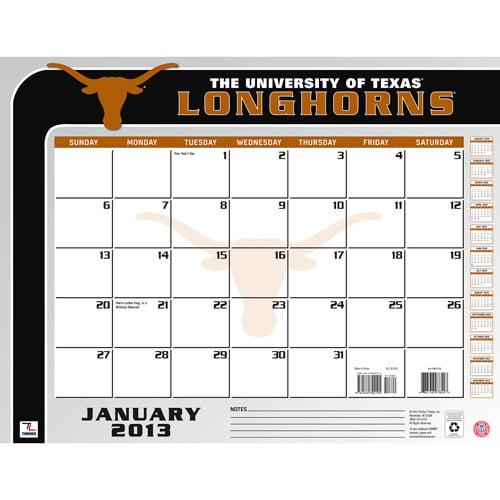 "Turner Licensing 2013 22"" x 17"" Desk Calendar, Texas Longhorns"