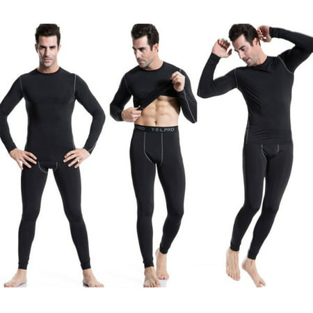 Tight Spandex Pants (EFINNY Men Compression Layer Athletic Running Training Long Skin Sports Tight Trousers Pants)