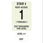 INTERSIGN NFPA-PVC1812-X(41A4) NFPASgn,StairId4,FlrLvl1,FlrsSrvd1 to 4 G0267228