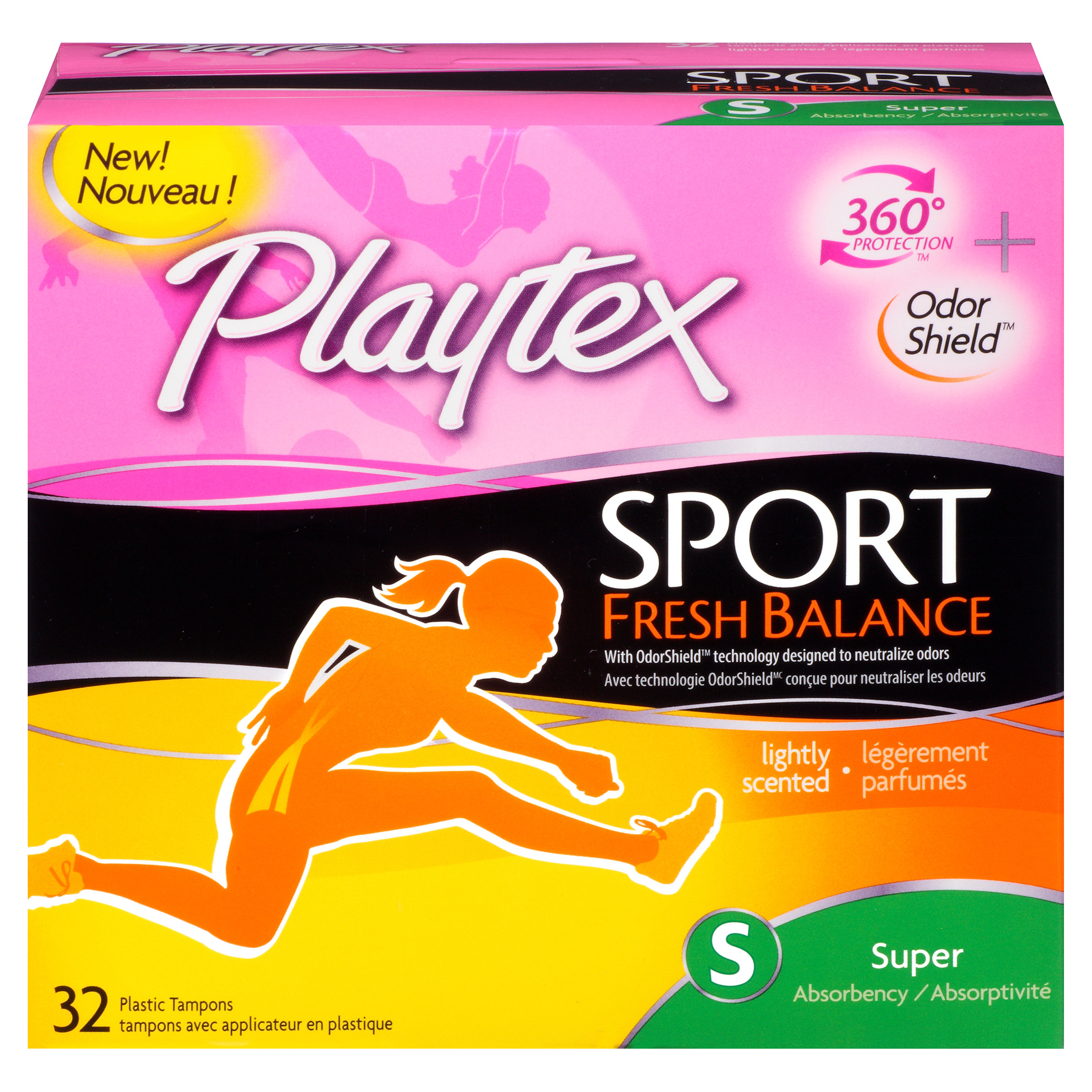 Playtex Sport Fresh Balance Tampons, Super Absorbency, 32 Ct