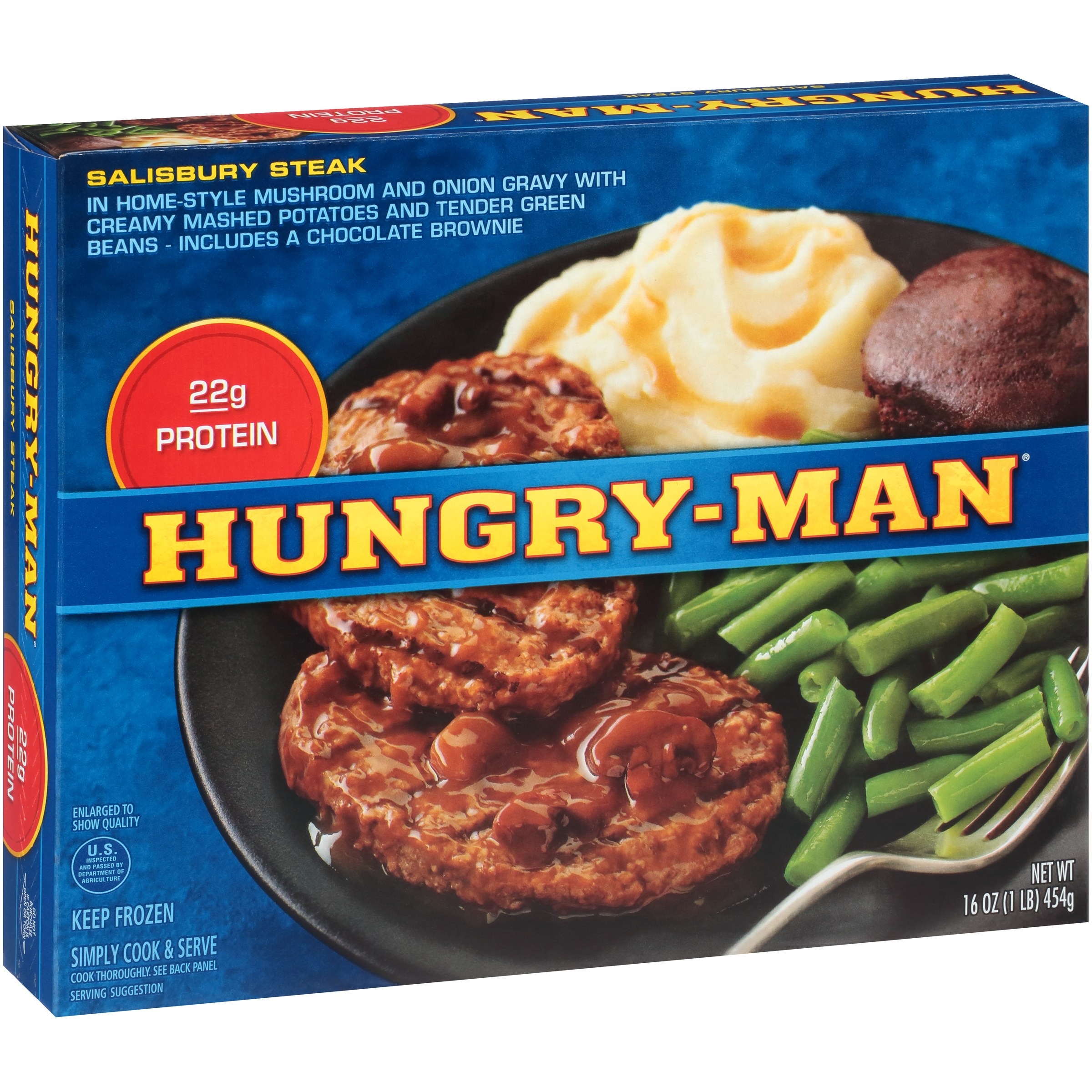 Hungry-Man® Salisbury Steak 16 oz. Box