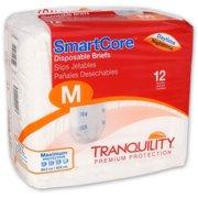 Tranquility SmartCoreTM Adult Disposable Color-Coded Briefs Medium - 12 Each