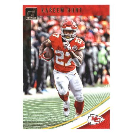2018 Donruss #140 Kareem Hunt Kansas City Chiefs Football Card (Glow City Football)