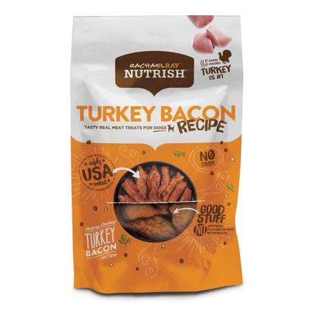 Rachael Ray Nutrish Turkey Bacon Grain Free Dog Treats, Hickory Smoked Turkey Bacon Recipe, 12 oz