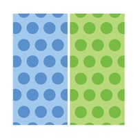Creative Converting Blue and Green Polka Dot Cello Bags (20pc Sets) (2 Items)