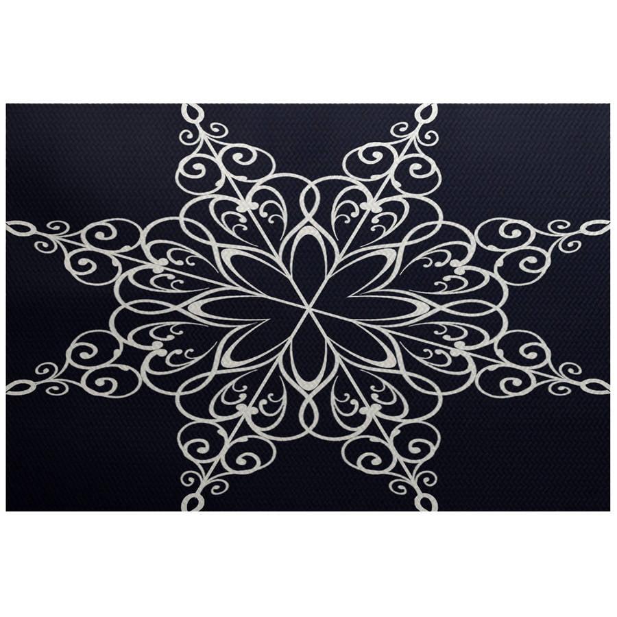 Simply Daisy 3' x 5' Snowflake Geometric Print Indoor Rug
