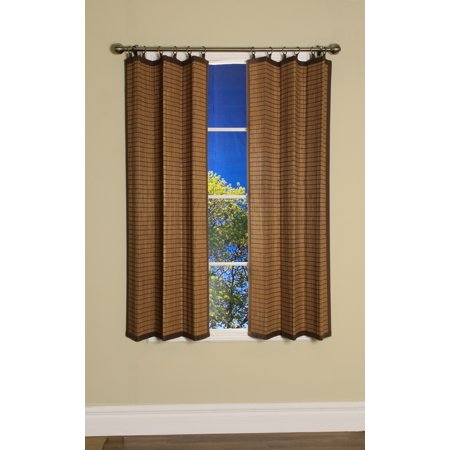 Versailles' Bamboo Wood Curtain Ring Top Panel (40in x 63in) ()