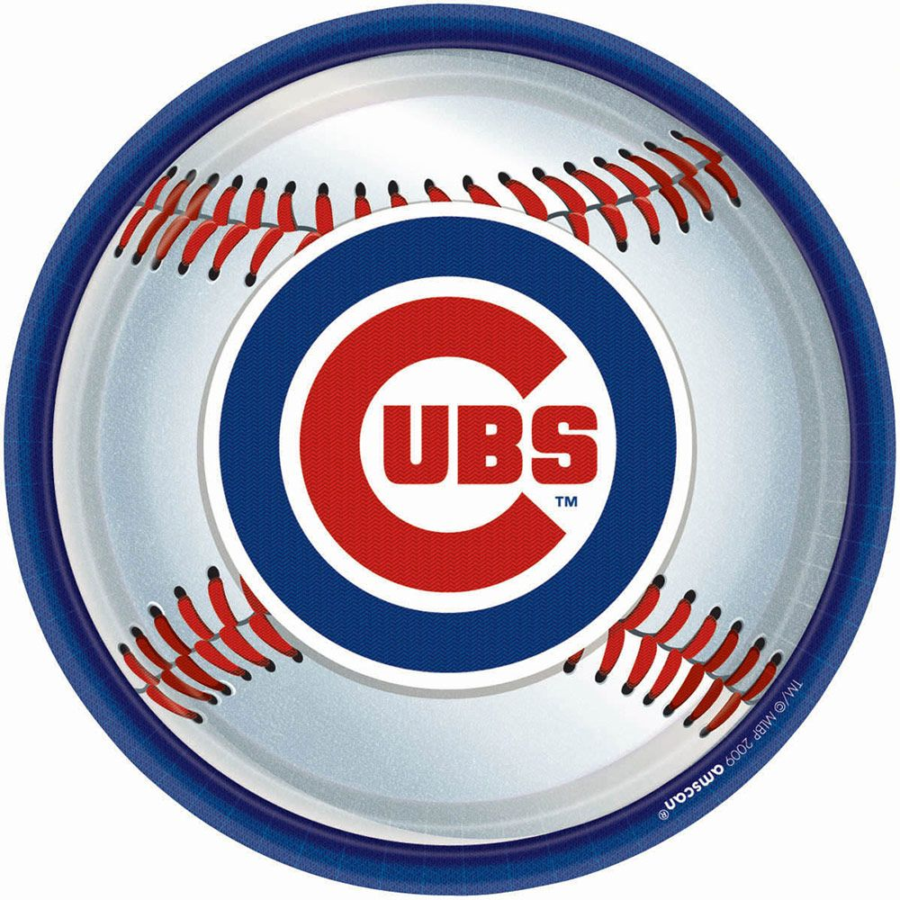 "Cubs Plates, 9"" (18 Pack) - Party Supplies"