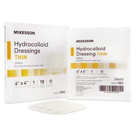 McKesson Hydrocolloid Dressing  4 X 4 Inch Square Sterile, 1 Piece