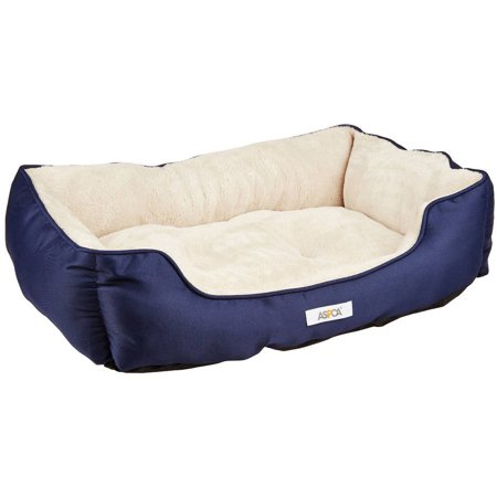 ASPCA Striped Cuddler Dog & Cat Pet Bed, Medium, 28