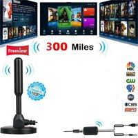 300 Miles HDTV Indoor Antenna Aerial HD Digital TV Signal Amplifier Booster Cable
