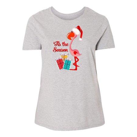 - Christmas Flamingo Women's Plus Size T-Shirt