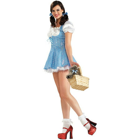 Dorothy Adult Sequin Adult Halloween Costume - Dorothy Teen Costume