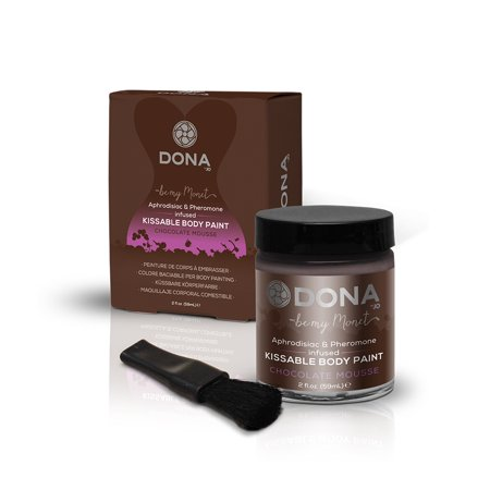 DONA Body Paint Chocolate Mousse 2 fl oz - Mousse Chocolate Halloween