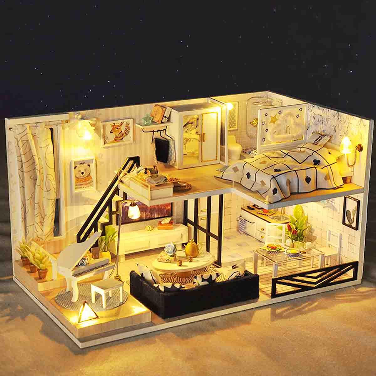 Dollhouse Miniature Bathroom Bath Shower Tap Waterfall Shower Model Toy BDAU