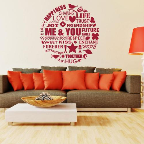 Style and Apply Me and You Love Wall Decal Small