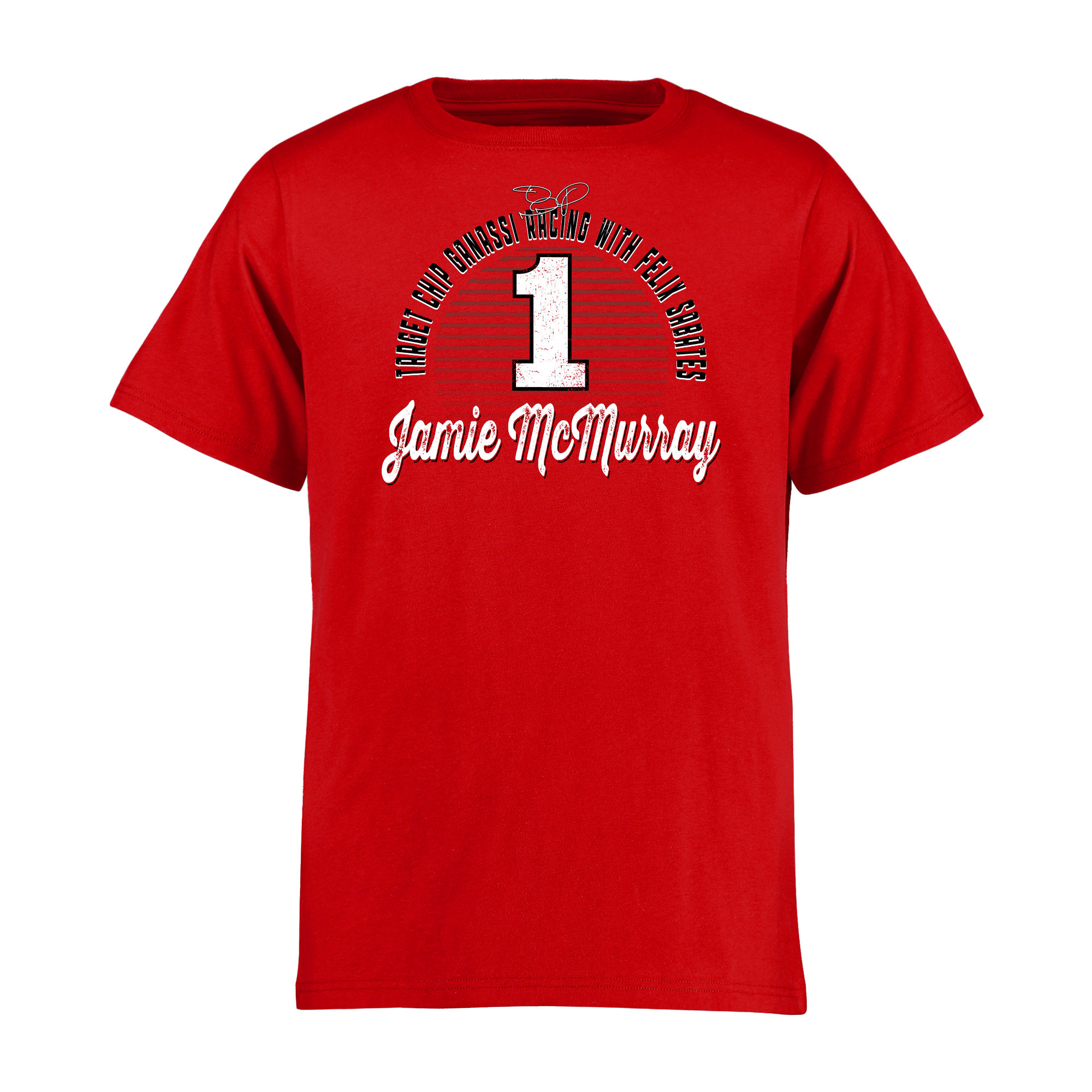 Jamie McMurray Youth Race Day T-Shirt - Red