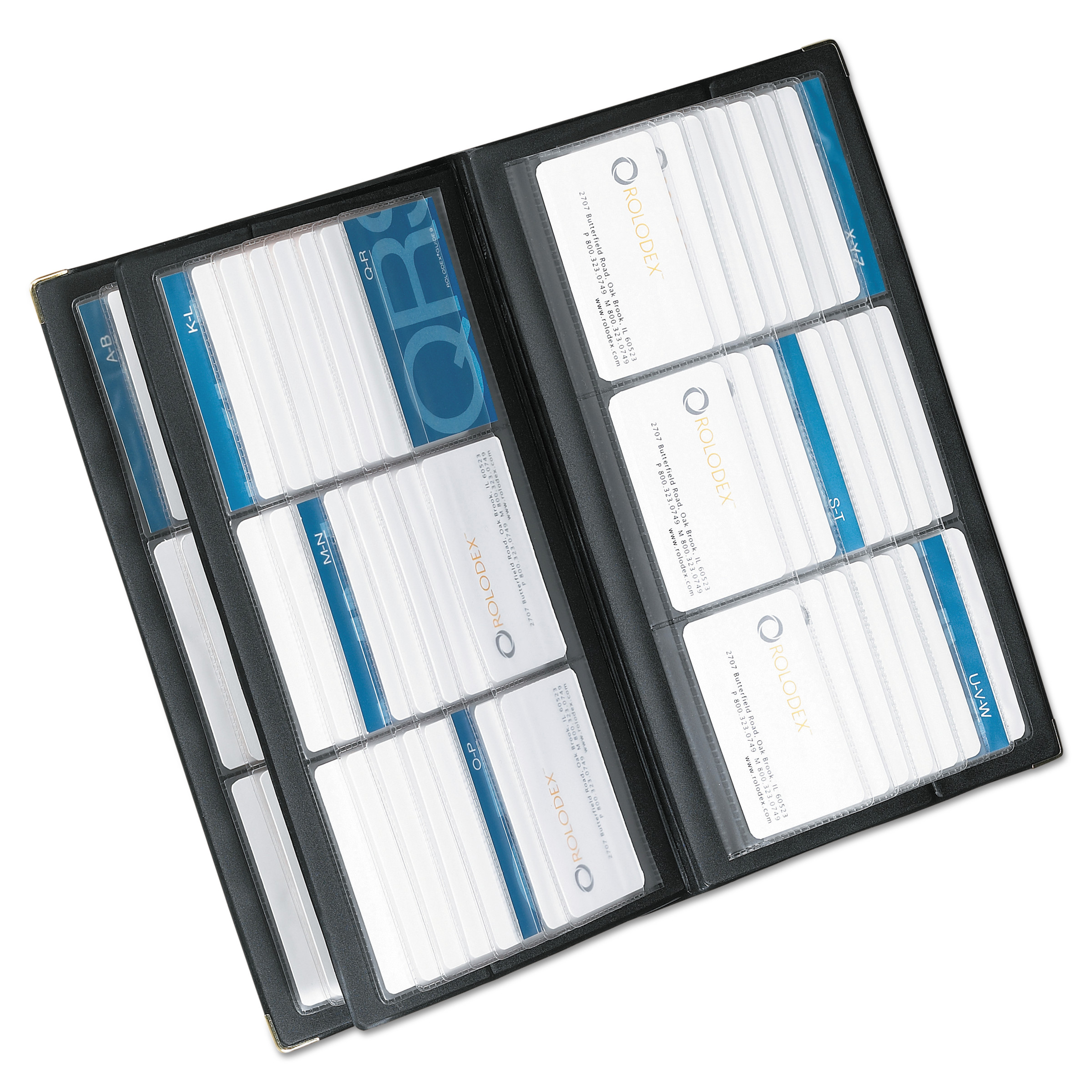 Rolodex Vinyl Business Card Book 6 2 14 x 3 35 CardsPage 32