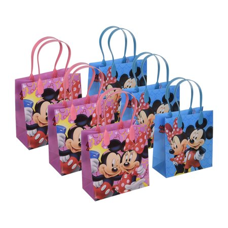 6pcs Mickey and Minnie Mouse Birthday Party Favor Goodie Gift candy Loot Bags