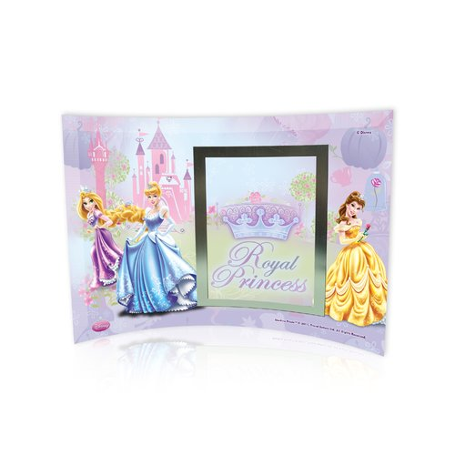 Trend Setters Disney Princesses (Royal Princess) Curved Glass Print with Photo Frame