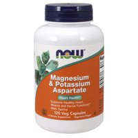 NOW Supplements, Magnesium & Potassium Aspartate with Taurine, Heart Health*, 120 Veg Capsules