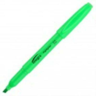 2 units Integra Pen Style Fluorescent Green Highlighter - 12 Pack per unit Integra Colored Highlighter